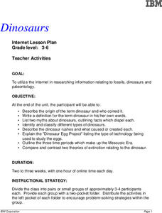 Dinosaurs Lesson Plan