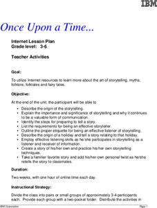 Once Upon a Time... Lesson Plan