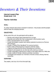 Inventors & Their Inventions Lesson Plan