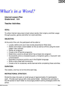 What's in a Word? Lesson Plan