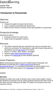 Introduction to Polynomials Lesson Plan