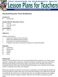 Household Hazardous Waste Identification Lesson Plan