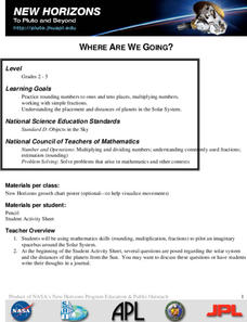 Where Are We Going? Lesson Plan