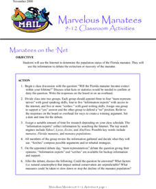 Marvelous Manatees Lesson Plan