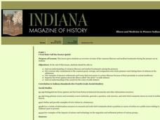 Illness and Medicine in Pioneer Indiana Lesson Plan