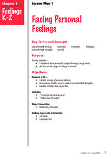 Dealing With Emotions Lesson Plan