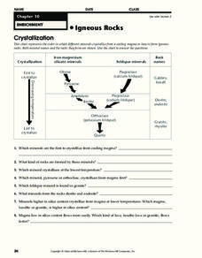 Igneous Rocks Worksheet