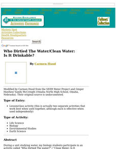 Who Dirtied The Water/Clean Water: Is It Drinkable? Lesson Plan
