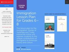 Immigration for Grades 6-8 Lesson Plan