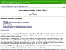 Immigration in the United States Lesson Plan