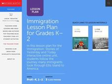 Immigration For Grades K-2 Lesson Plan