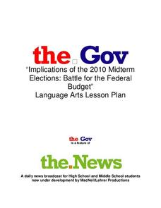 Implications of the 2010 Midterm Elections: Battle for the Federal Budget Lesson Plan