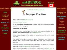 Improper Fractions Lesson Plan