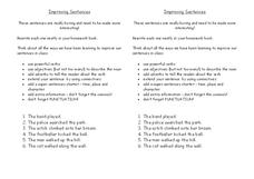 Improving sentences Worksheet