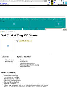 Not Just a Bag of Beans Lesson Plan