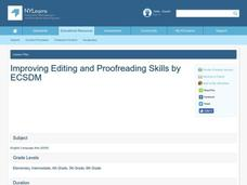 Improving Editing and Proofreading Skills Lesson Plan