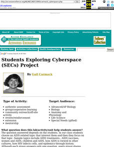 Students Exploring Cyberspace (SECs) Project Lesson Plan