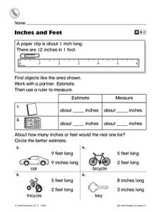 Inches and Feet Worksheet