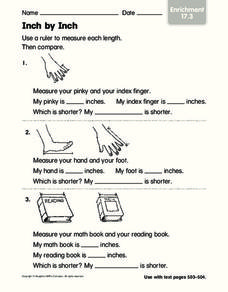 Inch by Inch Worksheet