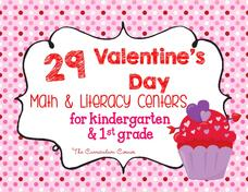 Valentine's Math and Literacy Centers Printables & Template