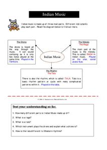 Indian Music Worksheet