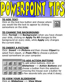 Powerpoint Tips Lesson Plan
