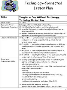 Technology Blackout Day Lesson Plan