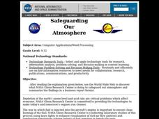 Safeguarding Our Atmosphere Lesson Plan