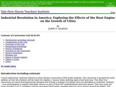 Industrial Revolution in America: Exploring the Effects of the Heat Engine on the Growth of Cities Lesson Plan