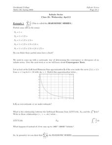 Infinite Series Worksheet