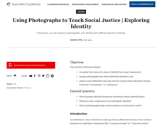 Using Photographs to Teach Social Justice | Exploring Identity Lesson Plan