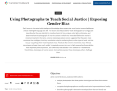 Using Photographs to Teach Social Justice | Exposing Gender Bias Lesson Plan