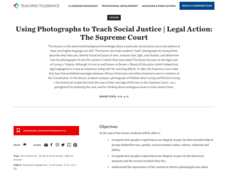Using Photographs to Teach Social Justice | Legal Action: The Supreme Court Lesson Plan