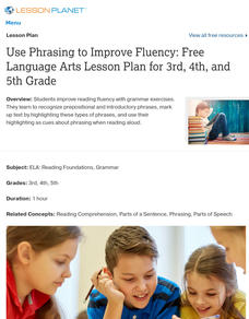 Use Phrasing to Improve Fluency Lesson Plan