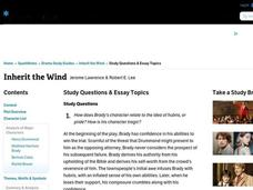 inherit the wind essay prompts This inherit the wind interactive is suitable for 10th - higher ed in this online interactive literature worksheet, students respond to 9 short.