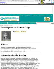 Transcription Translation Tango Lesson Plan