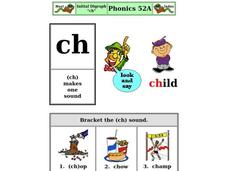 "Initial Digraph ""ch"" Worksheet"