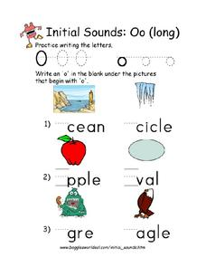 Initial Sounds: O Worksheet