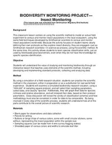 Insect Monitoring Lesson Plan