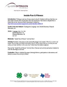 Inside Fun and Fitness Lesson Plan