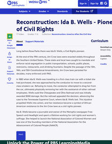 Reconstruction: Ida B. Wells - Pioneer of Civil Rights Video