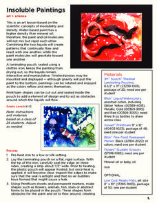 Insoluble Paintings Lesson Plan