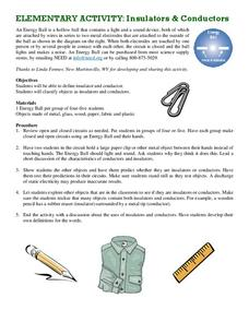 Insulators and Conductors Lesson Plan