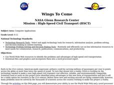 NASA Glenn Research Center Mission : High-Speed Civil Transport (HSCT) Lesson Plan
