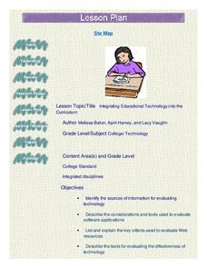 Integrating Educational Technology into the Curriculum Lesson Plan