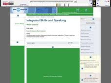 Integrated Skills and Speaking Lesson Plan