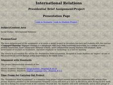 International Relations Lesson Plan