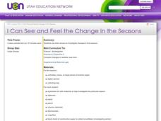 I Can See and Feel the Change in the Seasons Lesson Plan