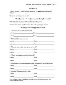 Interview Worksheet