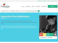 Interview For Reflection Lesson Plan